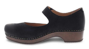Beatrice Black Burnished Nubuck