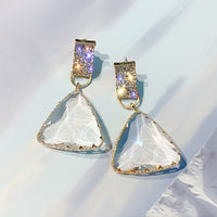 Diamond Triangle Earrings -