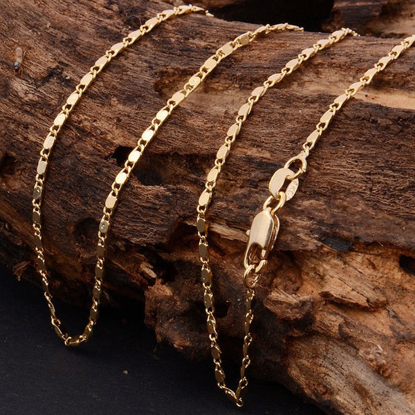 Thin Link Chain Necklace -