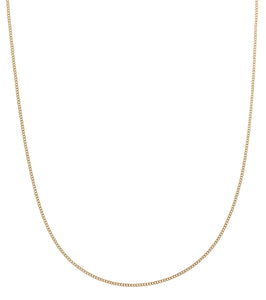CHARM CHAIN CURB 42 CM GOLD