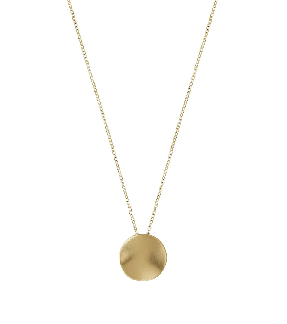 ELSA NECKLACE SHORT MATT GOLD