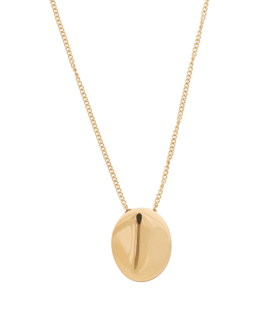 PEBBLE NECKLACE SHORT GOLD