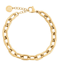 Load image into Gallery viewer, TRELLIS CHAIN BRACELET GOLD