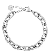 Load image into Gallery viewer, TRELLIS CHAIN BRACELET STEEL