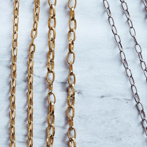 CHAIN LINKED LARGE 50 CM GOLD
