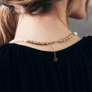 NOBLESSE NECKLACE MATT GOLD