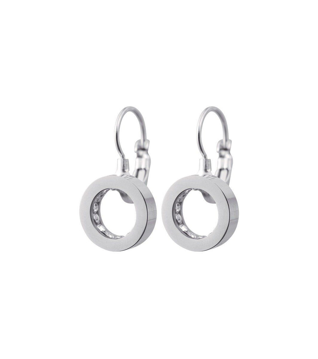 MONACO EARRINGS FRENCH HOOK STEEL