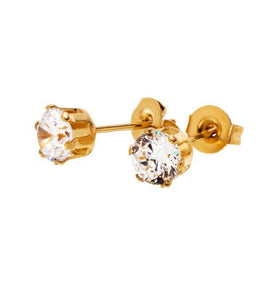 CROWN STUDS GOLD