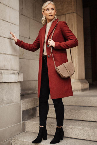 Moscow Coat in Burgundy