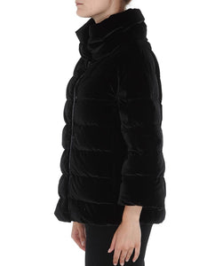 Herno Quilted Velvet Puffer Jacket