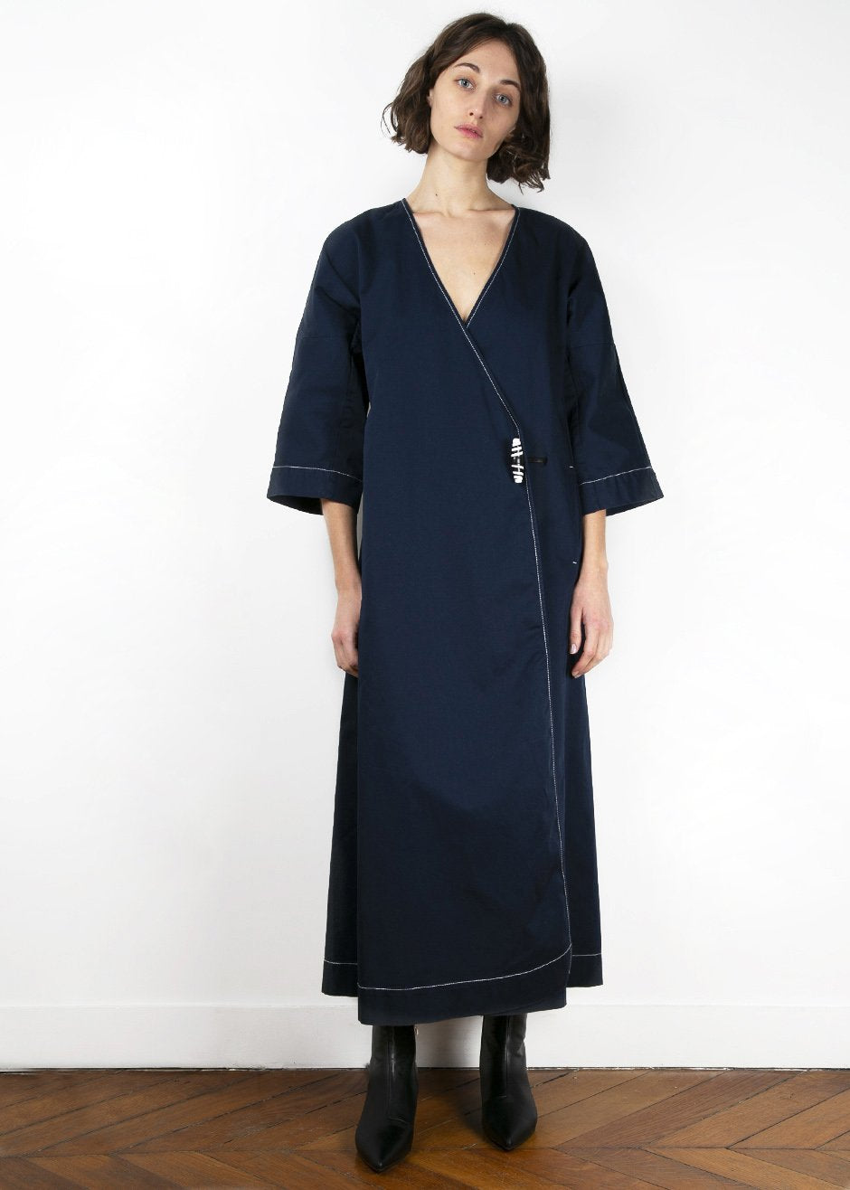 Ganni Hewson Dress in Total Eclipse