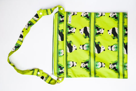 crackadaks wet bag custom handle panda meander pandas