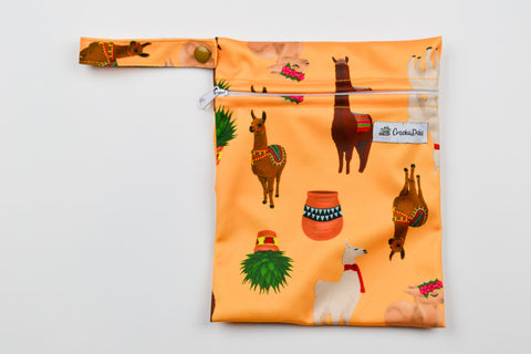 Llama face Mini Wet Bag