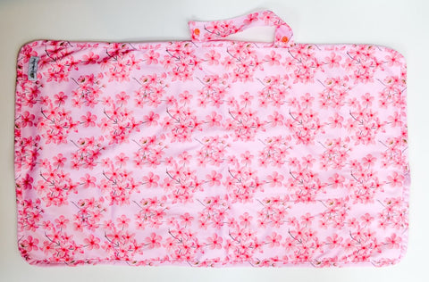 Crackadaks modern cloth change mat bamboo velour cherry blossoms #lovemycrackadaks