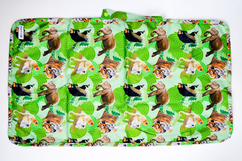 Crackadaks modern cloth change mat bamboo velour tiger elephant monkey bear #lovemycrackadaks