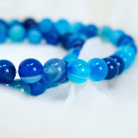 Blue Real Striped Agate
