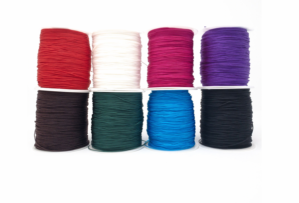 Polyester Beading Cord. 1mm. Sold Per Metre. Available in bright colours.