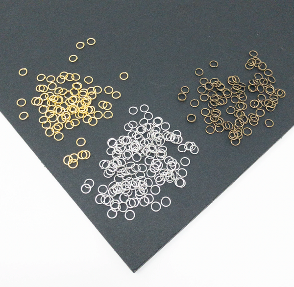 4mm, 5mm or 6mm Open Jump Rings x 1000. 0.7mm Gauge. Silver, Gold Or Bronze