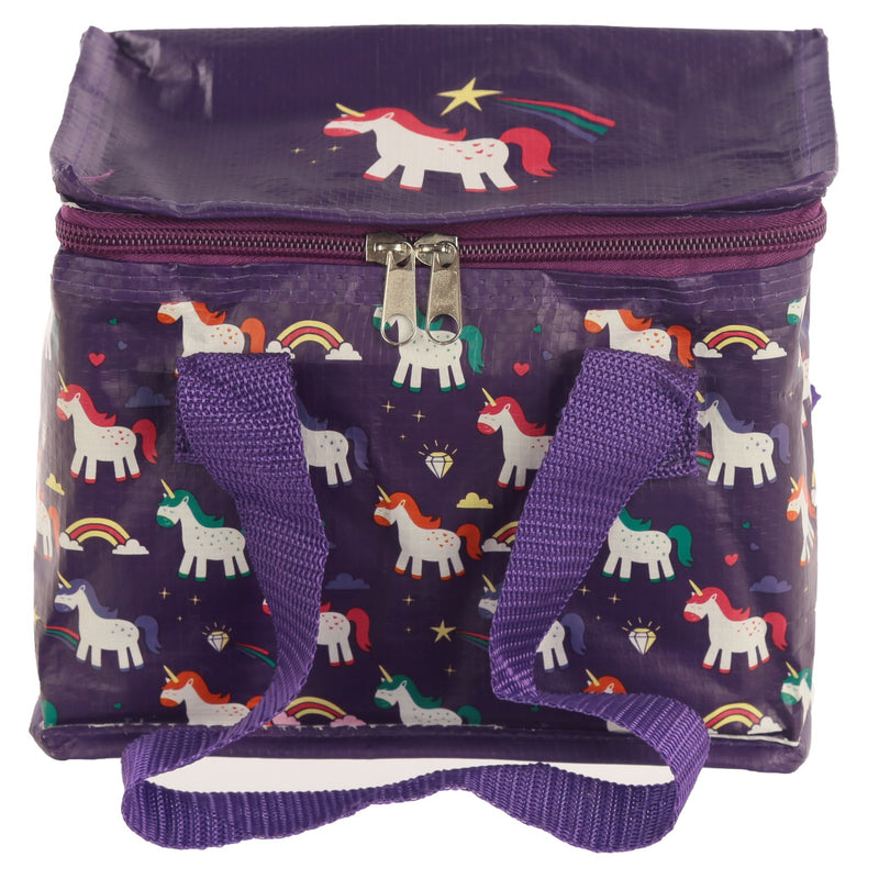 Woven Cool Bag Lunch Box - New Enchanted Rainbows Unicorn