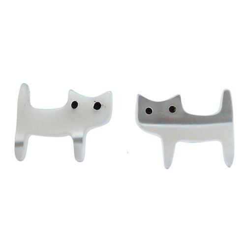 Super-Cute Mother Of Pearl Handmade Animal Stud Earrings