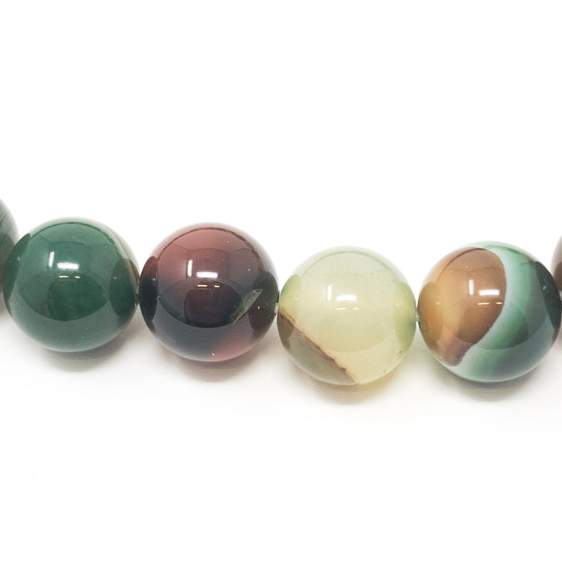 Real Striped Agate Gemstone Beads. Pink Blue Green Purple. 6mm 8mm 10mm