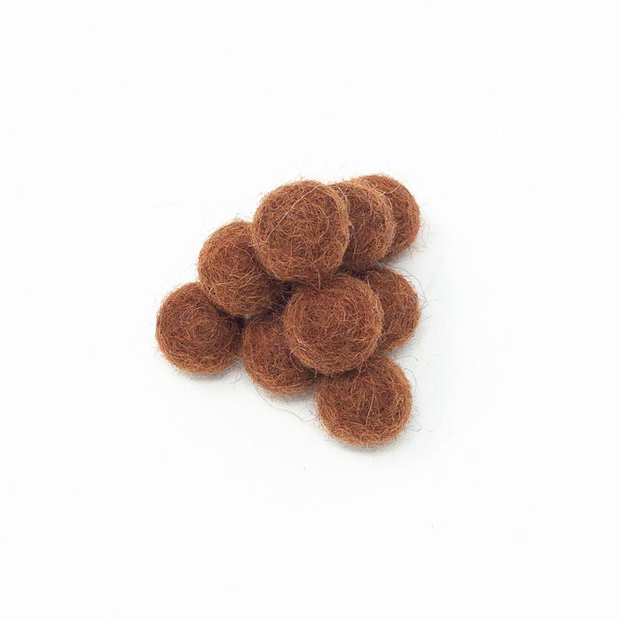 100 x Handmade Nepalese 100% Wool Felt Balls. 1cm Diameter. Choice Of Colours