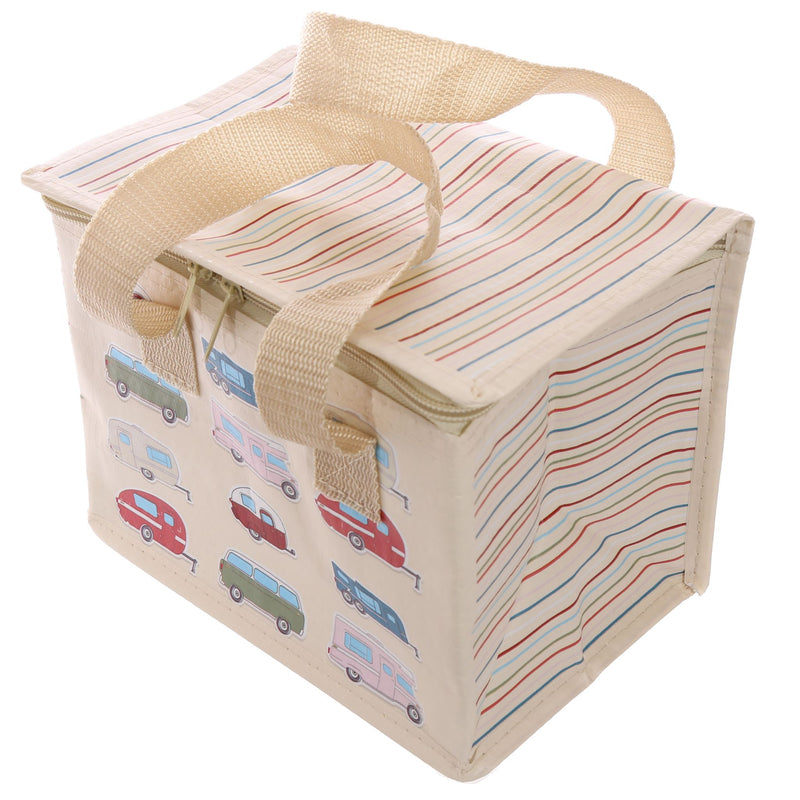 Woven Cool Bag Lunch Box - Caravan