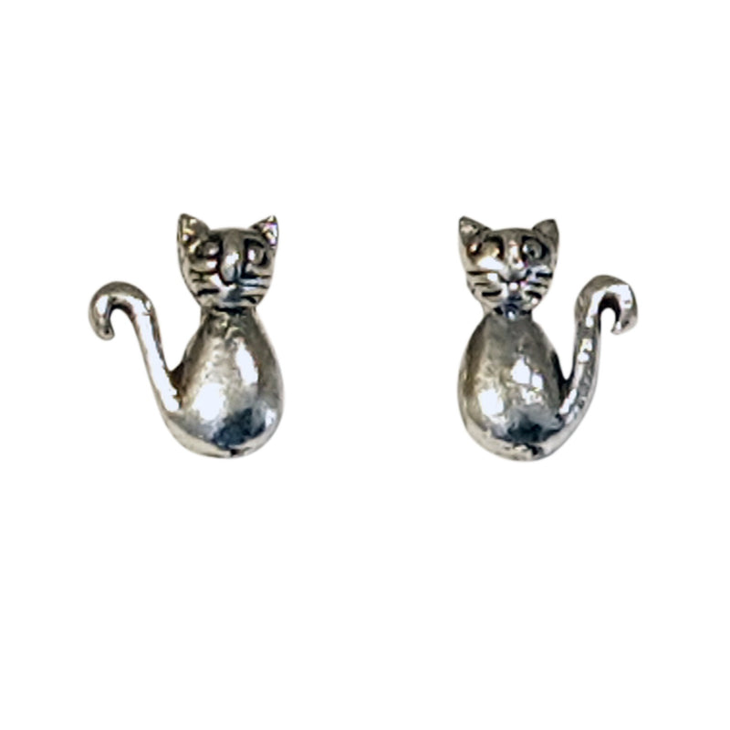 925 Solid Silver Tiny Dog Or Cat Studs - bigigloo.co.uk  - 1