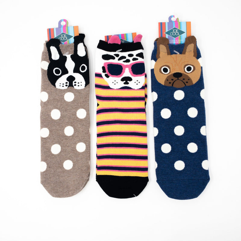Dog Socks UK Size 4-7.5-Euro 35-38-US 6-9.5. Shades & Stripes Or Dots