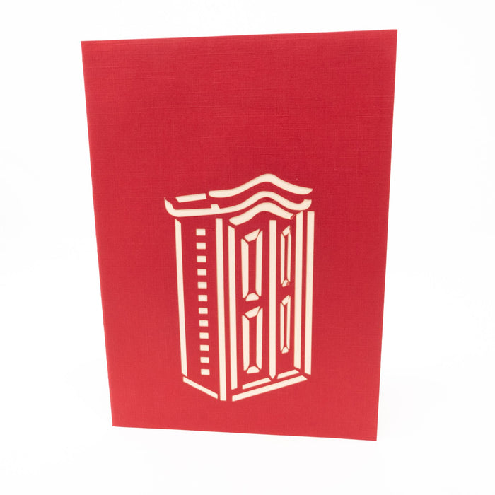 Handmade Pop Up Greetings Card-Wardrobe With Clothes. 10 x 15cm