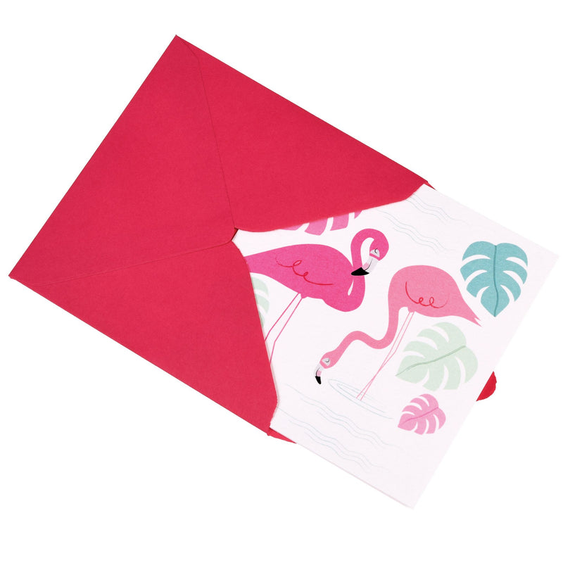 FLAMINGO BAY GREETINGS CARD