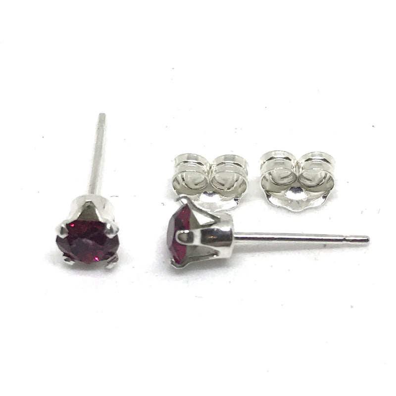 4mm Genuine Swarovski® Crystal & 925 Solid Sterling Silver Stud Earrings