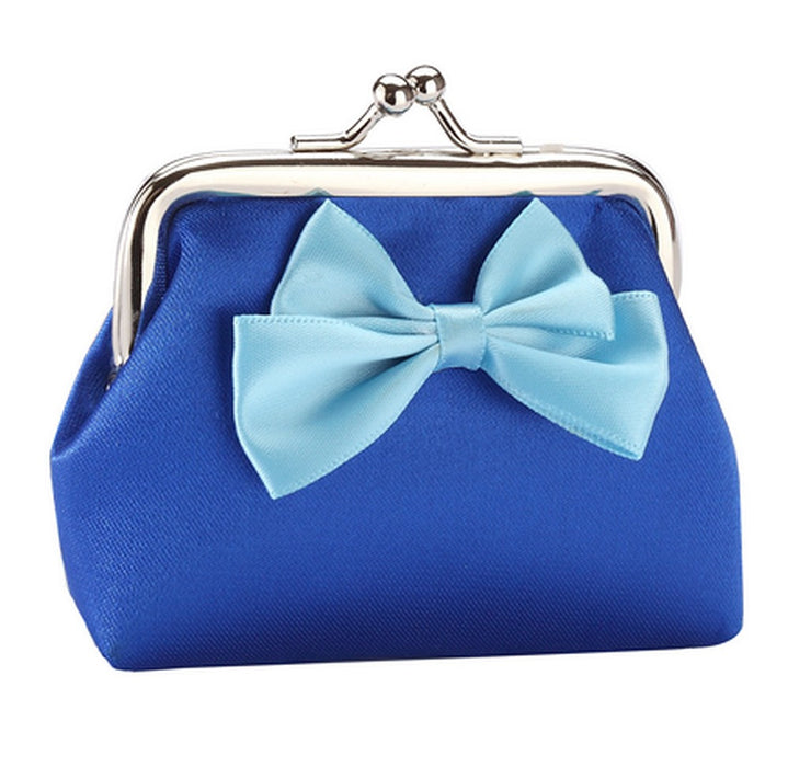 Fun Bright Bow Silk Purses in Red, Gold, Blue, Pink, Green, Purple, Yellow - bigigloo.co.uk  - 6