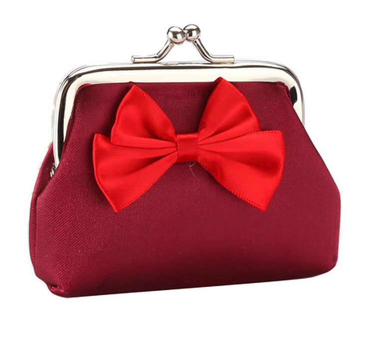 Fun Bright Bow Silk Purses in Red, Gold, Blue, Pink, Green, Purple, Yellow - bigigloo.co.uk  - 8