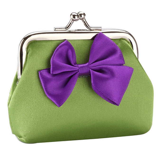 Fun Bright Bow Silk Purses in Red, Gold, Blue, Pink, Green, Purple, Yellow - bigigloo.co.uk  - 9