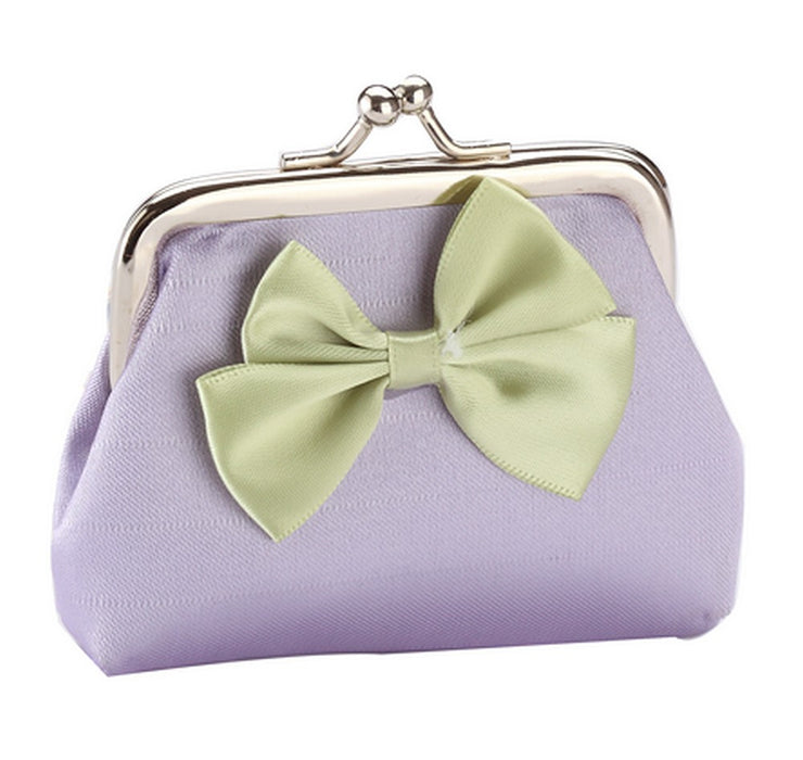 Fun Bright Bow Silk Purses in Red, Gold, Blue, Pink, Green, Purple, Yellow - bigigloo.co.uk  - 12