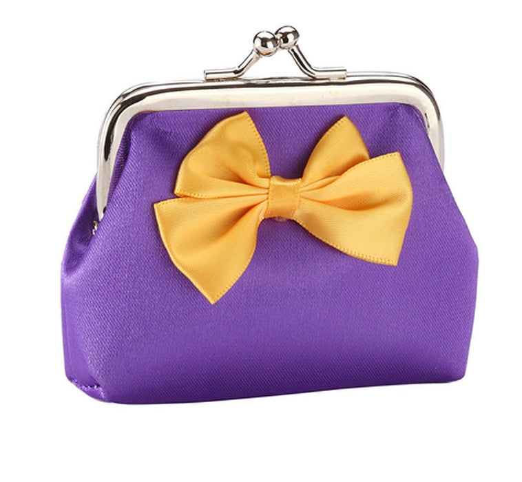 Fun Bright Bow Silk Purses in Red, Gold, Blue, Pink, Green, Purple, Yellow - bigigloo.co.uk  - 13