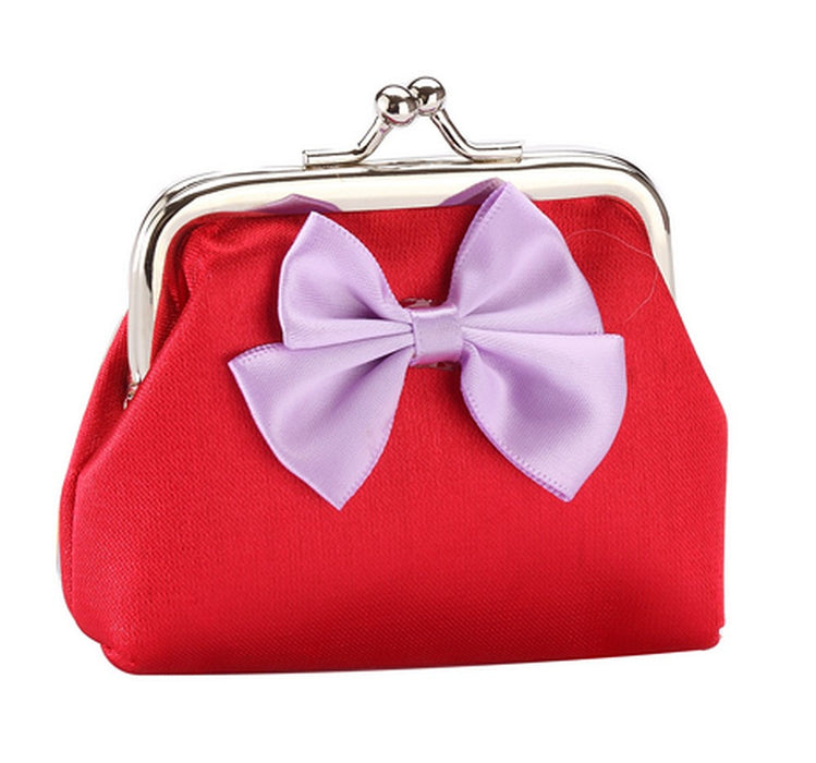 Fun Bright Bow Silk Purses in Red, Gold, Blue, Pink, Green, Purple, Yellow - bigigloo.co.uk  - 2