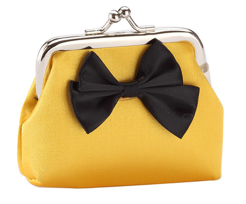 Fun Bright Bow Silk Purses in Red, Gold, Blue, Pink, Green, Purple, Yellow - bigigloo.co.uk  - 7