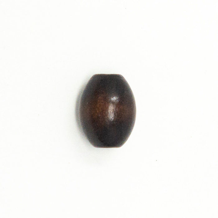 Oval Dark Brown Wooden Beads. 17mmx13mm. Pack Of 20. 4mm Hole.