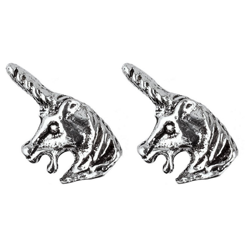 925 Solid Sterling Silver Unicorn Stud Earrings In Three Designs - bigigloo.co.uk  - 2