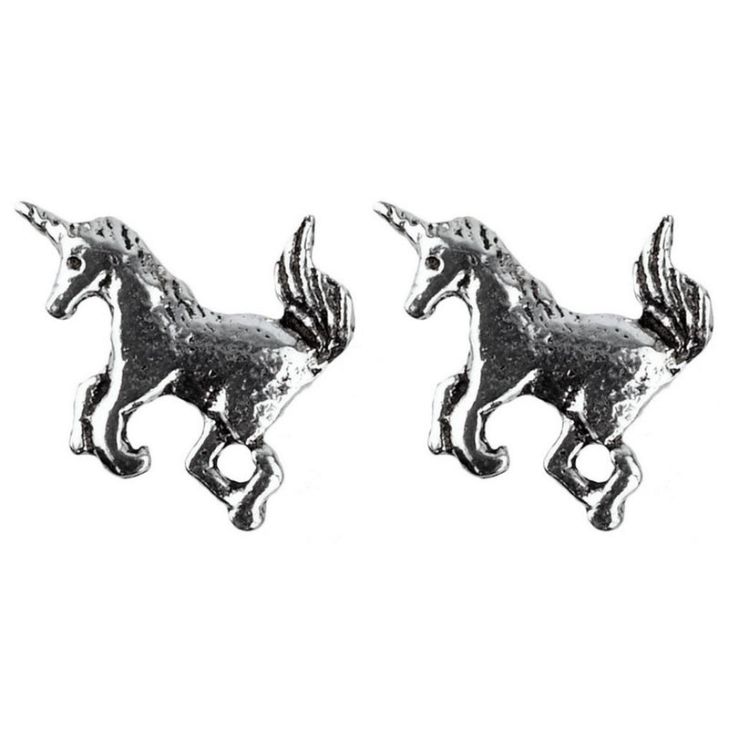 925 Solid Sterling Silver Unicorn Stud Earrings In Three Designs - bigigloo.co.uk  - 3