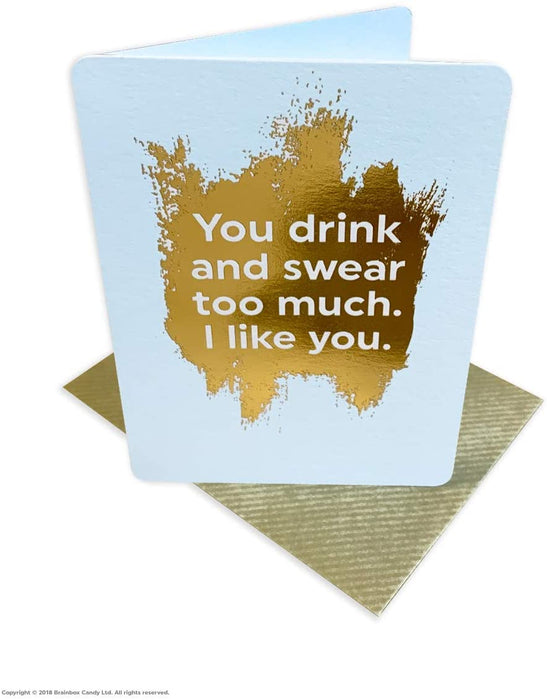 Drink And Swear Greetings Card