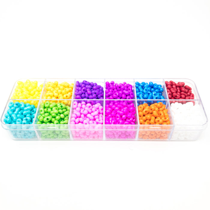 Preciosa Czech Multicoloured Seed Bead Selection Box-12 Designs. 12 x 18g Per Box
