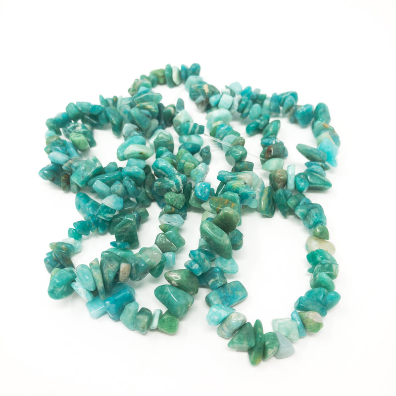 "Chip Nugget Gemstone Beads 5-8mm. Double Strand (30""/75cm). Approx 80 Beads."