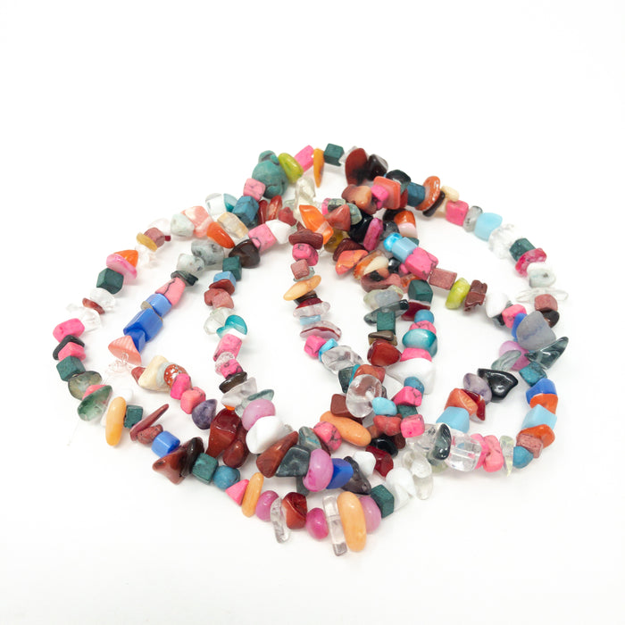 Assorted Gemstone Chip Nugget Beads. Approx 150 Beads. 5-8mm
