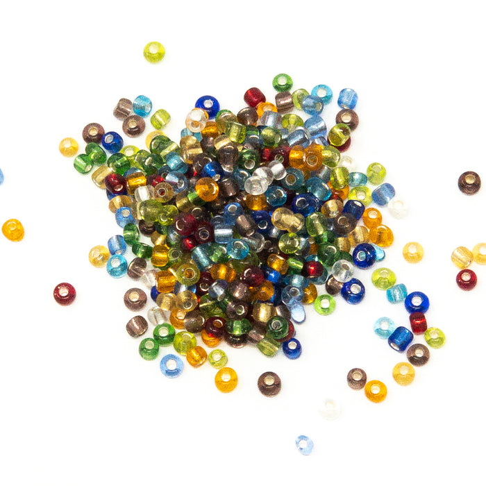 2 x 50G Packs of Mixed Colour Shape Size Seed and Bugle Jewellery Making Beads