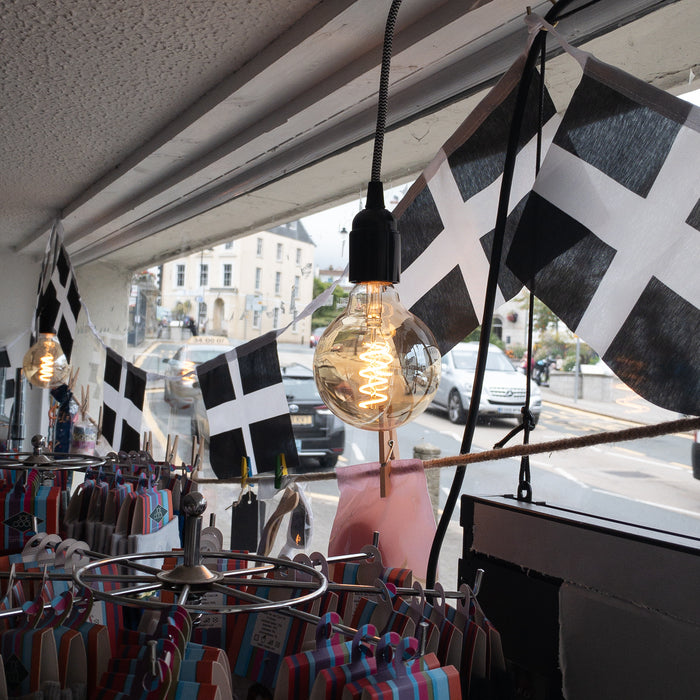 Kernow Cornish St Pirans Flag Bunting. 360 cm