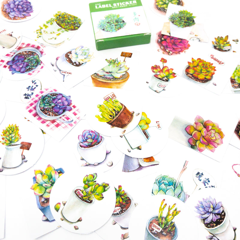 Japanese Style Sticker Boxes. 40 Assorted 38mm Stickers For Scrapbooking Or Crafts