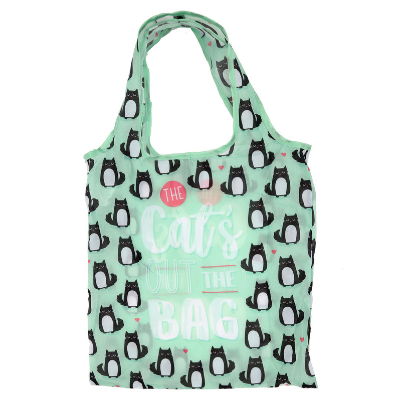 "Foldable ""Cat's Out The Bag"" Shopping Bag"